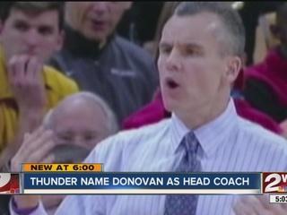 OKC Thunder confirms Billy Donovan is new coach