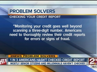 Have you checked your credit report?
