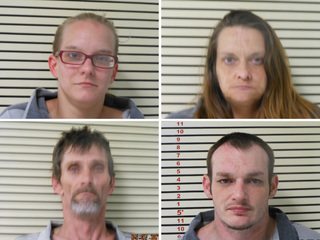 4 jailed after apparent meth lab found at home