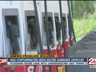 Is your gas contaminated with water?
