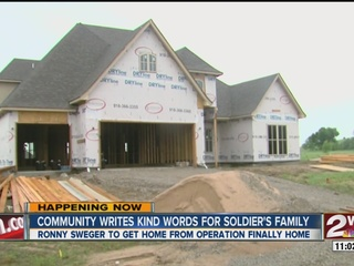Construction continues on soldier's new home