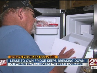 Leased icemaker breaks, man stuck in agreement