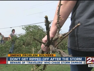 Post-severe weather cleanup could attract scheme