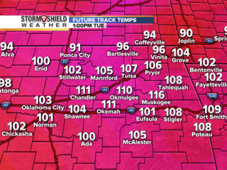 TIMELINE: Hour by hour of Tuesday's heat index