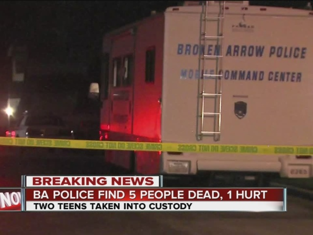 2 teens arrested after 5 found stabbed to death in Broken Arrow