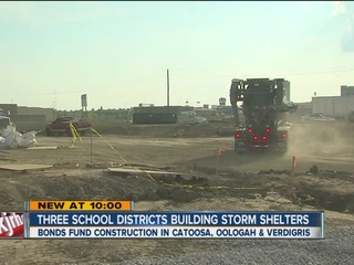 Three school districts building storm shelters