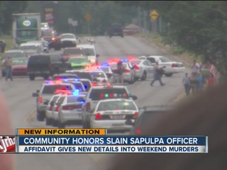 Sapulpa officer's body escorted to funeral home