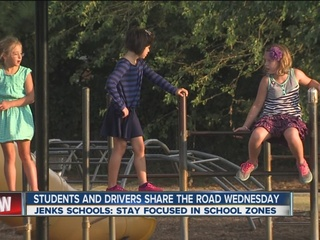 Jenks students wary of speeding during 1st day