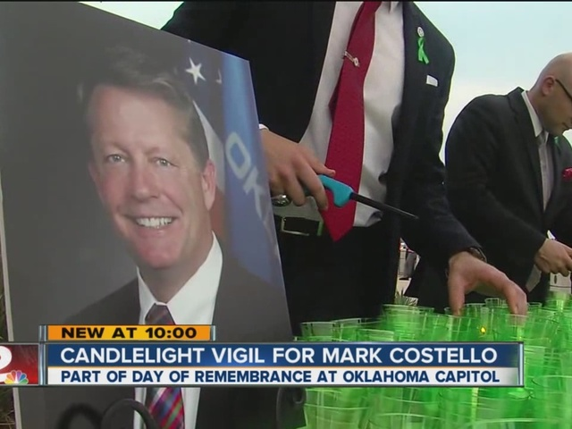 Candlelight Vigil For Mark Costello