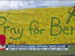 Depew team honors opposing player during game