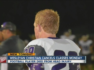 HS football player dies; classes canceled Mon.