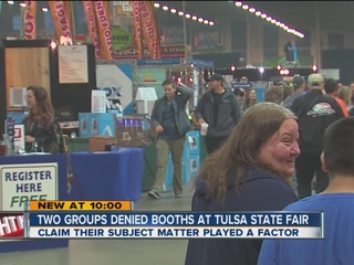 Groups claim they were denied booths at fair