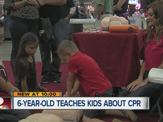 6-year-old teaches about CPR at Tulsa State Fair
