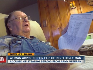 Woman arrested for exploiting Army veteran