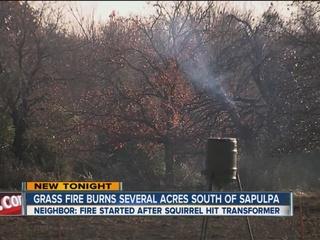 Grass fire burns several acres south of Sapulpa