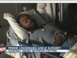 Perine undergoes successful ankle surgery