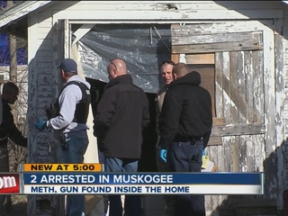 Two arrested in Muskogee meth bust