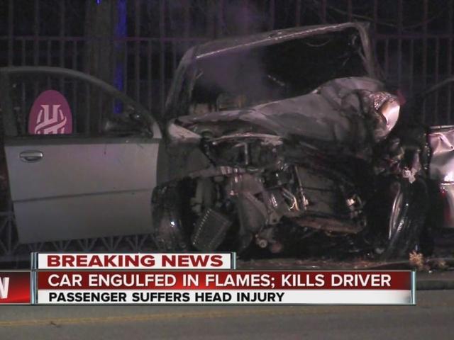 1 dead, 1 injured in fiery crash in south Tulsa