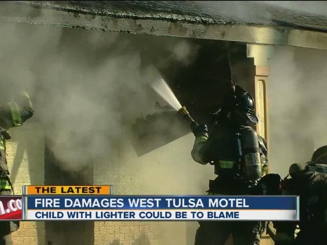 Fire Damages West Tulsa Motel