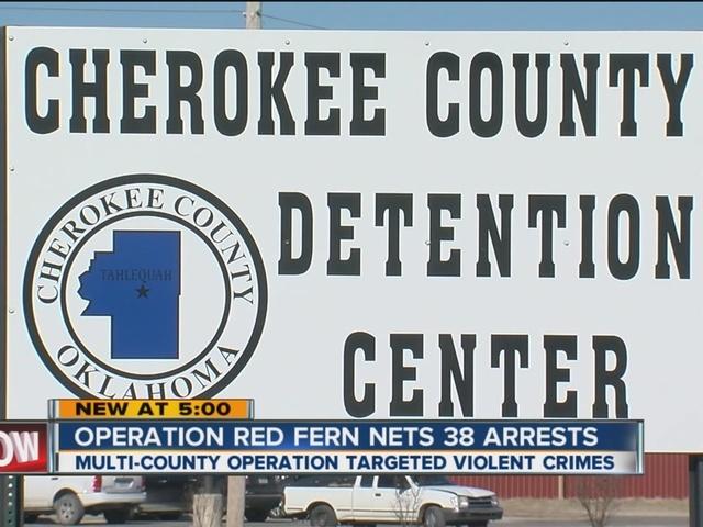 Operation Red Fern Nets 38 Arrests