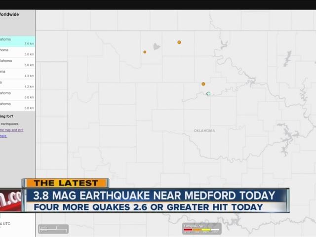 7 earthquakes shake Oklahoma
