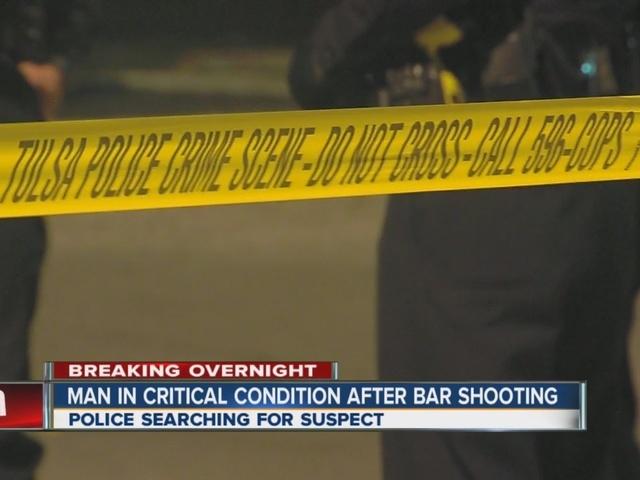 Man shot at Tulsa bar, police search for suspect