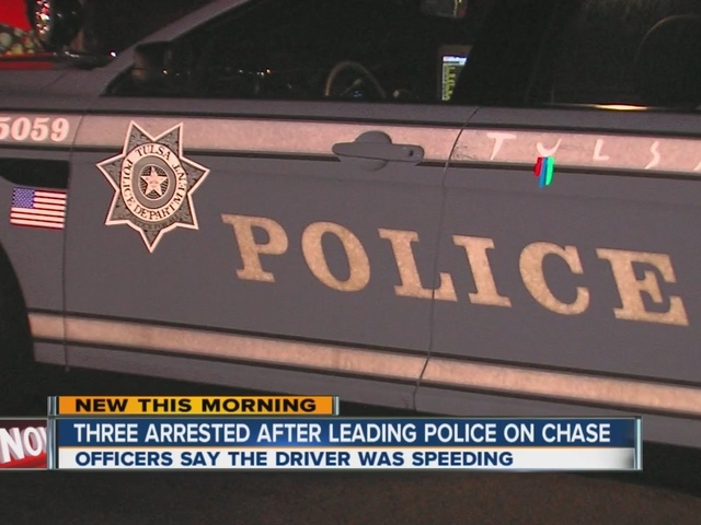 3 arrested after Police chase in Tulsa