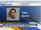 3 arrested after Tulsa police chase