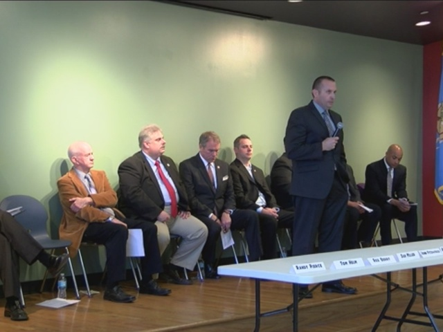 Candidates answer questions at Sheriff's Forum