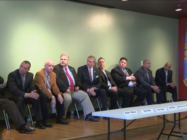 Candidates answer questions at Tulsa County Sheriff's Forum, February 2016