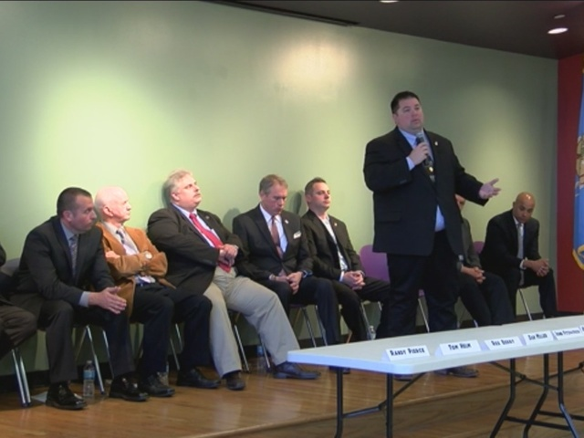 Candidates answer questions at Tulsa County Sheriff's Forum