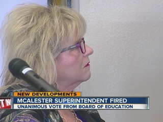 McAlester Super fired in unanimous vote