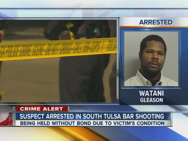 Suspect arrested in south Tulsa bar shooting