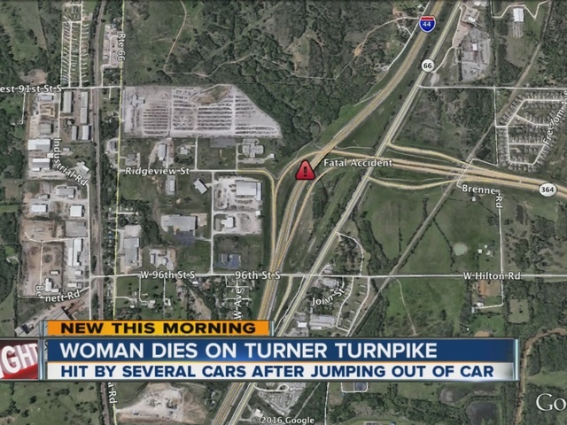 Woman hit by several cars on Turner Turnpike