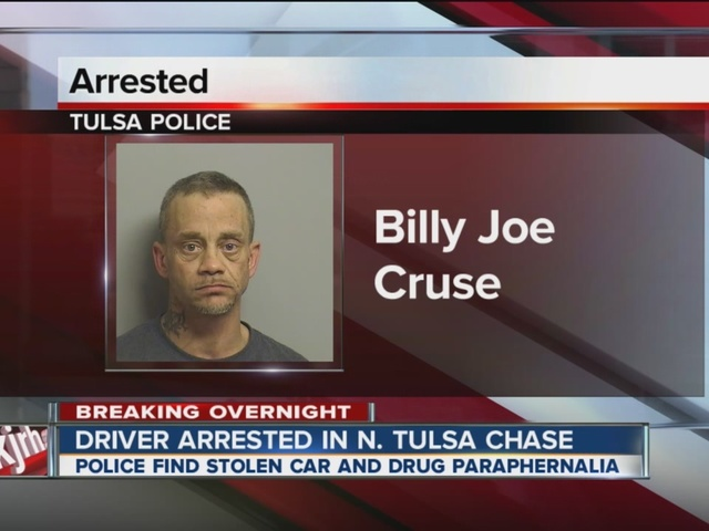 Driver arrested in N. Tulsa chase