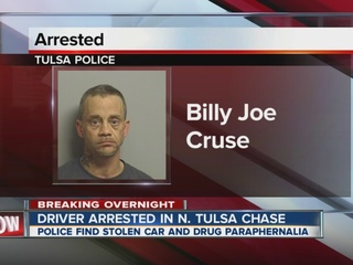 Driver arrested in N. Tulsa police chase