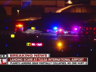 Plane stuck between runways at TIA