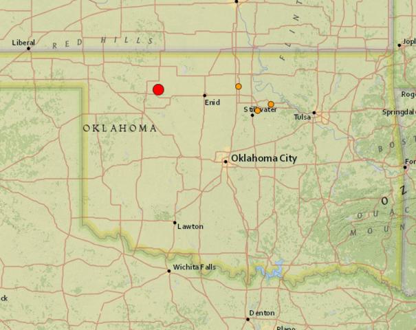5.1-magnitude quake strikes Oklahoma - USGS