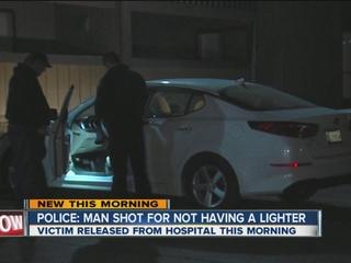 Man shot in the hand for not having lighter
