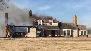 Fire engulfs home in Catoosa