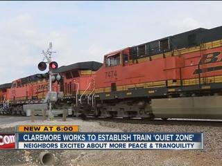 Train quiet zone excites neighbors in Claremore