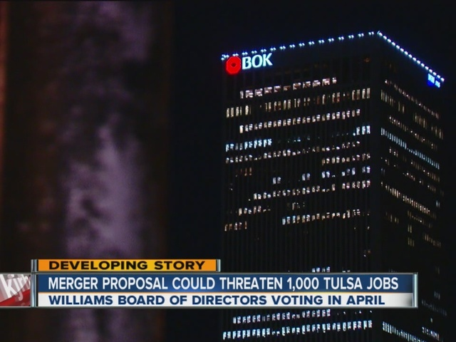 Merger proposal for Williams Company in Tulsa