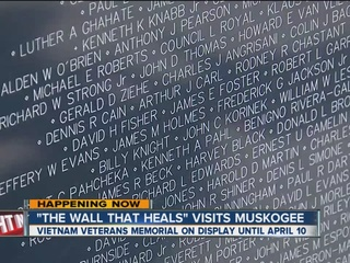 The Wall That Heals replica in Muskogee