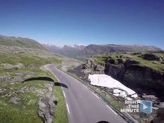 OUCH! Video shows paraglider's crash landing
