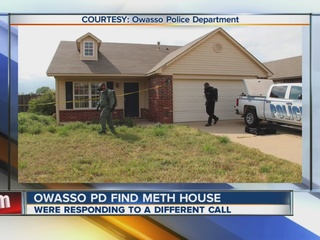 Owasso police discover meth lab in empty home