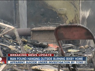 Man's body found outside home during house fire