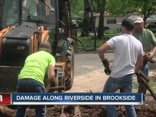 Crews continue to clean up tornado damage