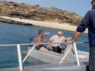 TV crew locates, saves man on deserted island