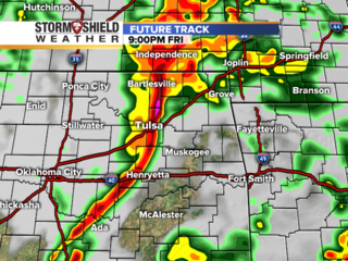 TIMELINE: Where's the severe weather threat?
