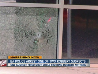 BAPD: One of two armed robbers in custody
